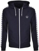 Fred Perry Taped Hooded Track Top Blue