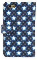 Miu Miu Star-Print Leather Phone Case