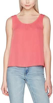Only Women's Onlpixie S/l Top WVN Vest Pink Tea Rose