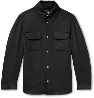 Dunhill Padded Wool, Mulberry Silk And Cashmere-blend Overshirt - Gray