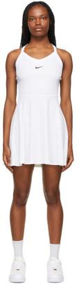 Nike White NikeCourt Dri-FIT Dress