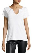 Zadig & Voltaire Tunsisien Ao Dots Henley T-Shirt, White