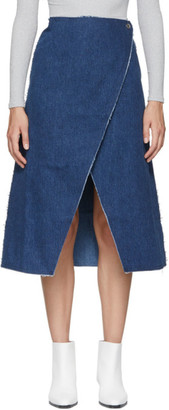 Simon Miller Indigo Denim Wrap Skirt