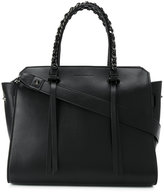 Elena Ghisellini chained double straps tote - women - Calf Leather - One Size