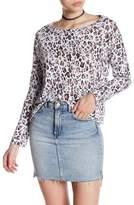 Stateside Boxy Leopard Long Sleeve Shirt