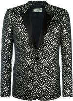 Saint Laurent Iconic Le Smoking jacquard blazer - men - Silk/Cotton/Polyester/Metallized Polyester - 48