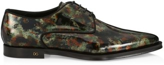 Dolce & Gabbana DNA Camo-Print Derby Shoes