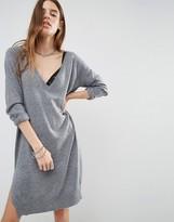 Noisy May Deep V Neck Knit Dress