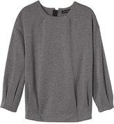Banana Republic Pleated-Sleeve Couture Sweatshirt