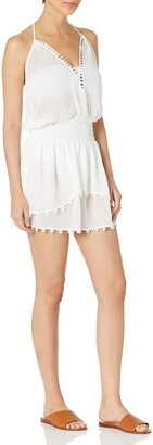 Ramy Brook Women's Leila Halter Embellished Mini Dress Coverup