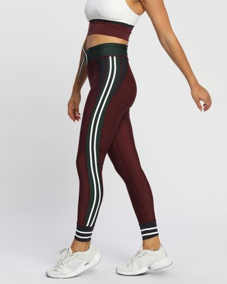 The Upside Women's Red Tights - Heritage Yoga Pants - Size XS at The Iconic