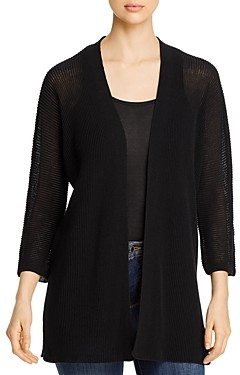 Eileen Fisher Organic Cotton Open Cardigan