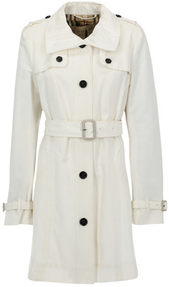 Burberry White Cotton Trench Coat for Women