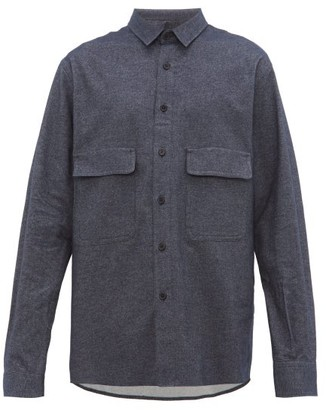 Raey Chest-pocket Brushed Cotton-twill Shirt - Mens - Navy