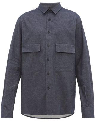 Raey Chest-pocket Brushed Cotton-twill Shirt - Navy