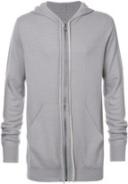 Rick Owens cashmere long length hoodie - men - Cashmere - 46