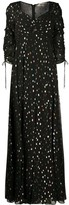 Diane von Furstenberg Bellona metallized maxi dress