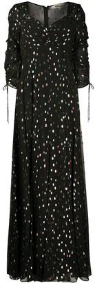 Bellona metallized maxi dress