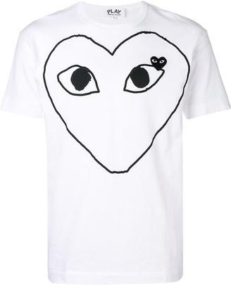 Comme des Garcons large heart logo T-shirt