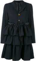 Comme des Garcons ruffled skirt coat - women - Polyester - S