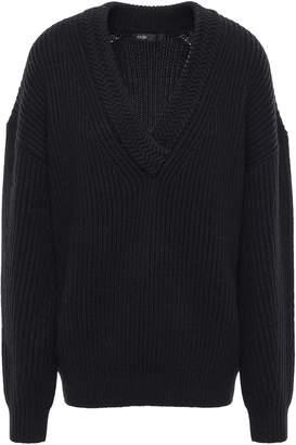 Maje Ribbed Wool-blend Sweater