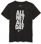 Nike Boy's All Net All Day T-Shirt