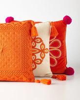 Trina Turk Caribbean Orange Desert Medallion Pillow