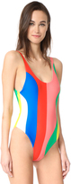 Mara Hoffman Beach Ball High Cut Maillot