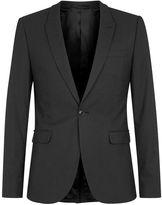 Topman Black Textured Ultra Skinny Fit Suit Jacket