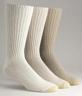 Gold Toe Cotton Fluffies Socks 3-Pack Hosiery - Men's