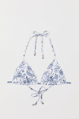 H&M Push-up Triangle Bikini Top - White