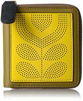Orla Kiely Punched Pocket Leather Square Zip Wallet Wallet