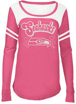 5th & Ocean Seattle Seahawks Pink Slub Long Sleeve T-Shirt, Girls (4-16)
