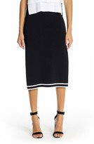 KENDALL + KYLIE Women's Sports Border Midi Skirt