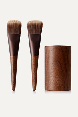 SHAQUDA - Suve Naderu Brush And Stand Set - Brown
