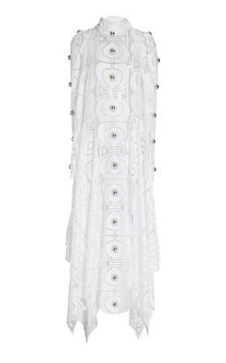 Christopher Kane Molecule Embroidered-Satin Maxi Dress
