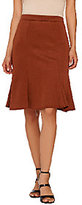 George Simonton Textured Knit Flounce Skirt with Seam Detail