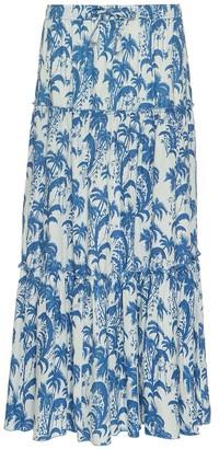 Ada Kamara Ladies Skirt In White-Blue