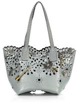 Marc Jacobs Embellished Laser-Cut Leather Tote