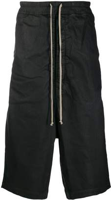 Rick Owens classic dropped-crotch shorts