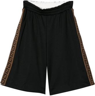Fendi Kids Ff Detailed Shorts