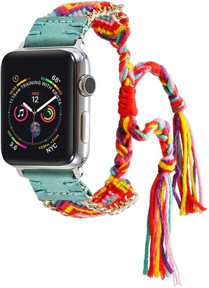 Turquoise Posh Tech Friendship Bracelet 38mm/40mm Apple Watch 1/2/3/4 Band