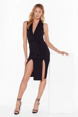 Nasty Gal Womens Belted Sleevless Midi Blazer Dress - Black - 6