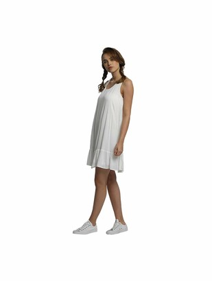 Only Women's Onljacky S/l Short Solid Wvn Dress White (Cloud Dancer Cloud Dancer) Large (Manufacturer Size: 40)