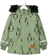 Mini Rodini padded penguin parka