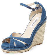 LK Bennett Litya Strappy Denim Wedge