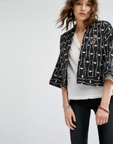 Maison Scotch Kimono Inspired Quilted Cotton Jacket