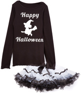 Beary Basics Black 'Happy Halloween' Tee & Tutu - Infant Toddler & Girls