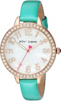 Betsey Johnson Women's Quartz Metal and Alloy Casual Watch, Color:Green (Model: BJ00552-04)