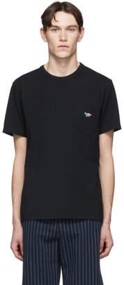 MAISON KITSUNÉ Black Tricolor Fox Patch Pocket T-Shirt